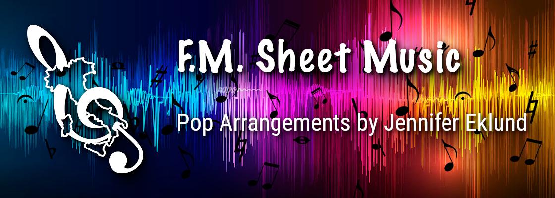 F.M. Sheet Music Banner