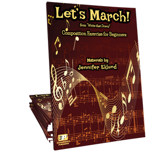 Let's March - Composition Worksheets for Beginners