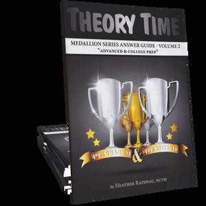 Theory Time® Medallion Series: Answer Book Volume 2 (Platinum & Diamond)