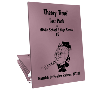 Theory Time® Reproducible Series: Test Pack Middle School/High School 1B