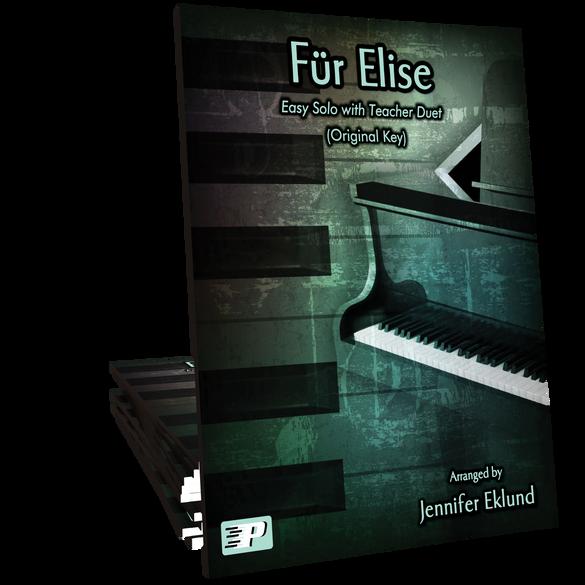Fur Elise Easy Solo with Teacher Duet (Original Key)