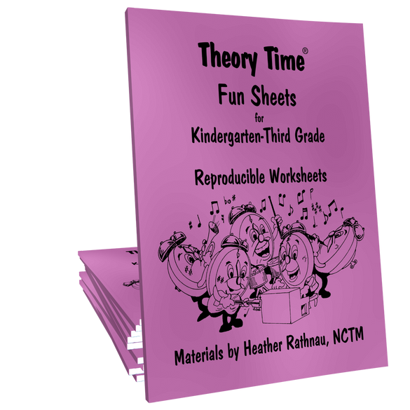 Theory Time® Reproducible Series: Fun Sheets for K-3