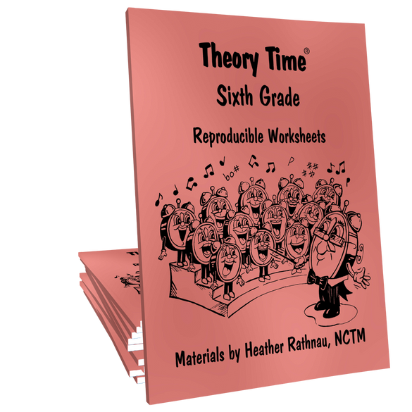 Theory Time® Reproducible Series: Sixth Grade Pack