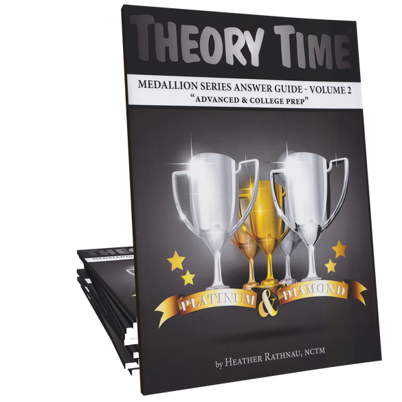 Theory Time® Medallion Series: Answer Book Volume 2 (Platinum & Diamond)
