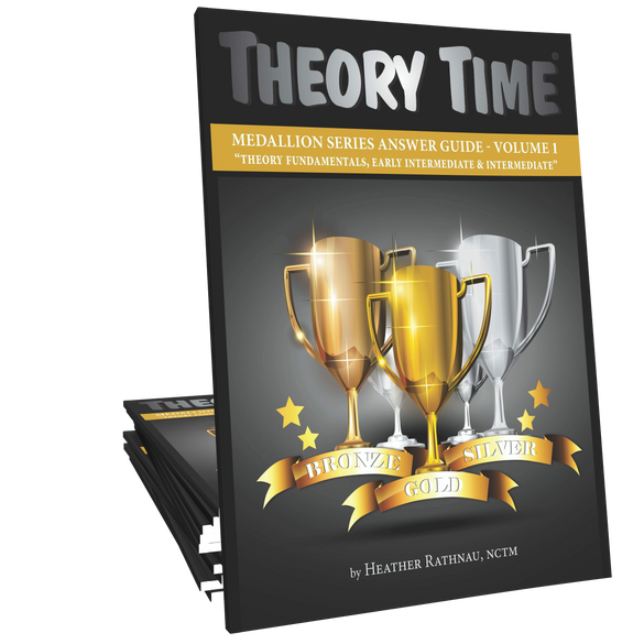 Theory Time® Medallion Series: Answer Book Volume 1 (Bronze, Silver, and Gold)