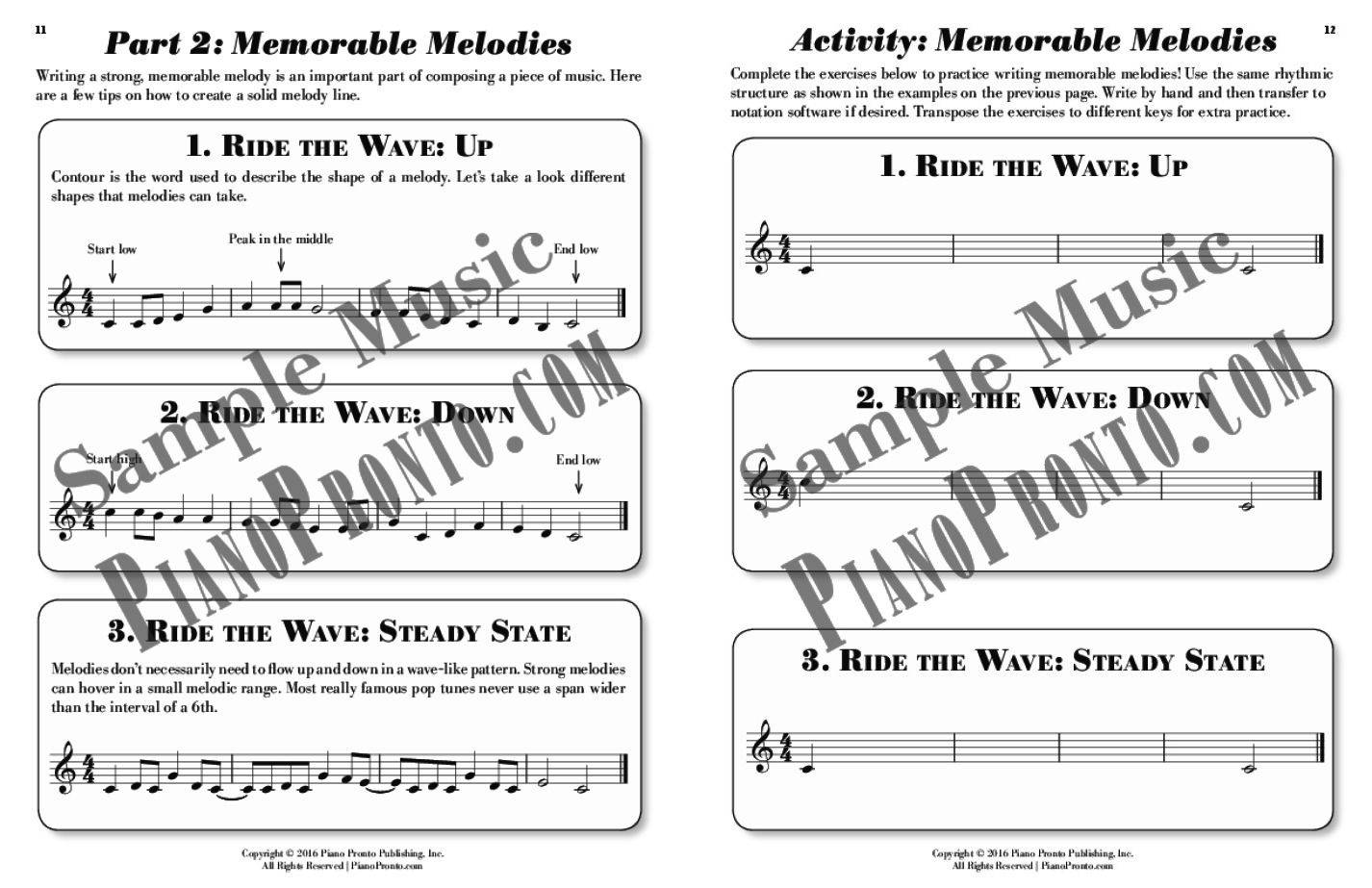 Workbooks music in theory and practice workbook : Write That Down! - Composition Workbook | Workbook | Piano Pronto ...