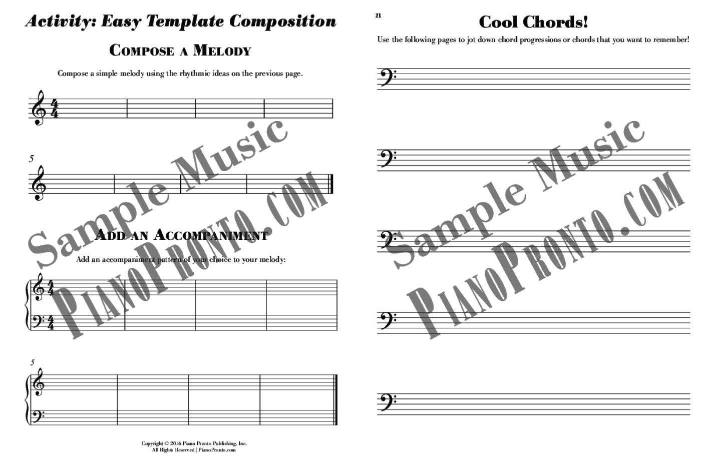 Write That Down! - Composition Workbook | Workbook | Piano Pronto ...