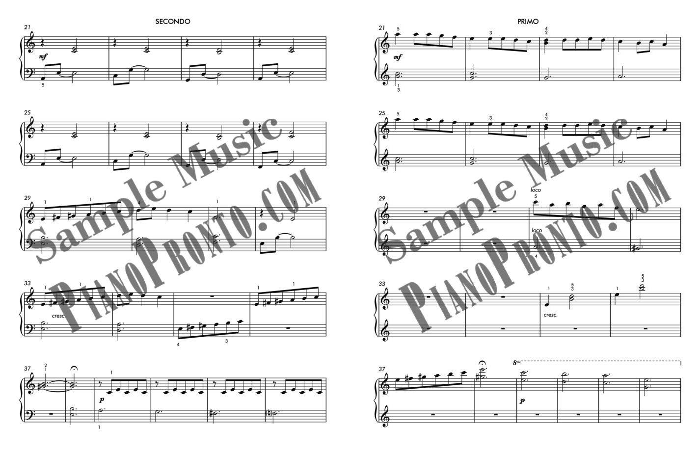 picture about Carol of the Bells Free Printable Sheet Music named Ukrainian Bell Carol Duet