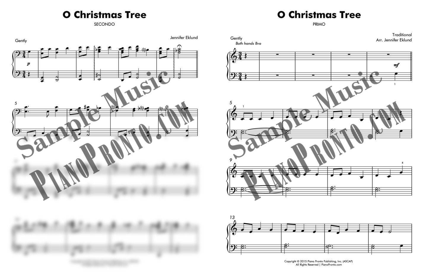 O Christmas Tree Duet (from \
