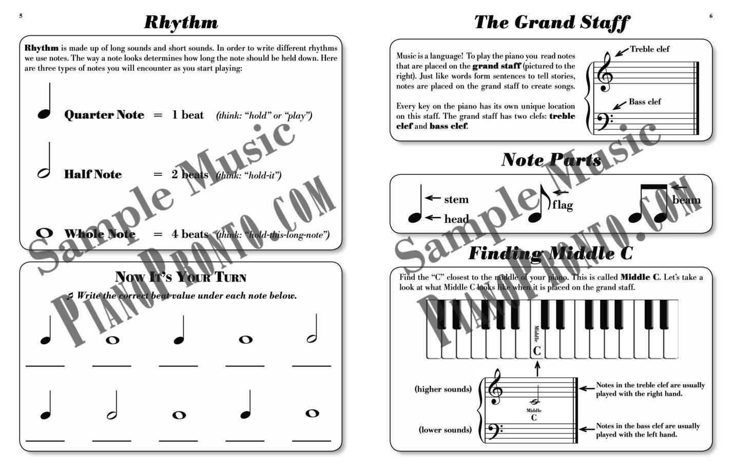 Piano pronto prelude hardcopy method book piano pronto piano pronto method book guide hexwebz Gallery
