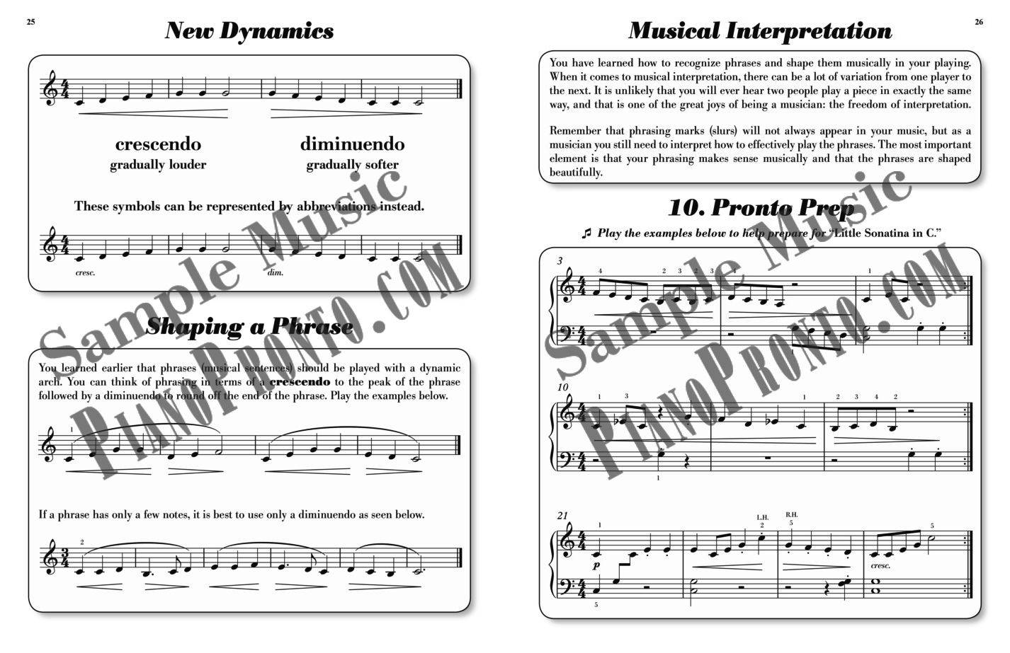 Piano pronto movement 1 hardcopy method book piano pronto take a look inside fandeluxe Images