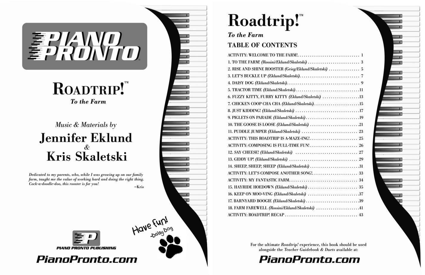 Workbooks buckle down workbooks : Roadtrip!® To the Farm   Hardcopy, Method Book   Piano Pronto ...