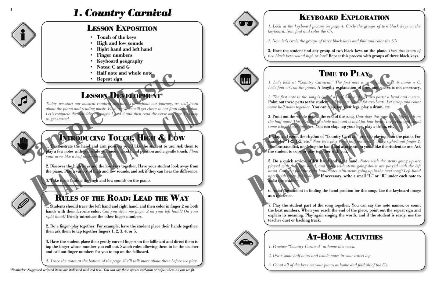 Roadtrip!® Country Carnival: Teacher Guidebook & Duets