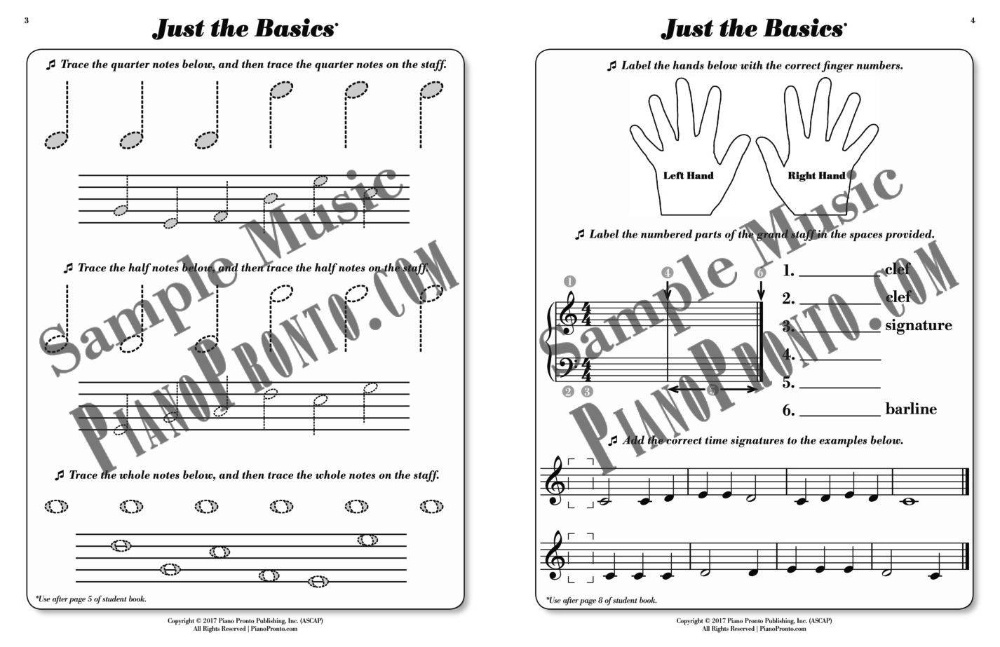 Prelude Power Pages Hardcopy Workbook Piano Pronto Publishing Parts Diagram Method Book Guide