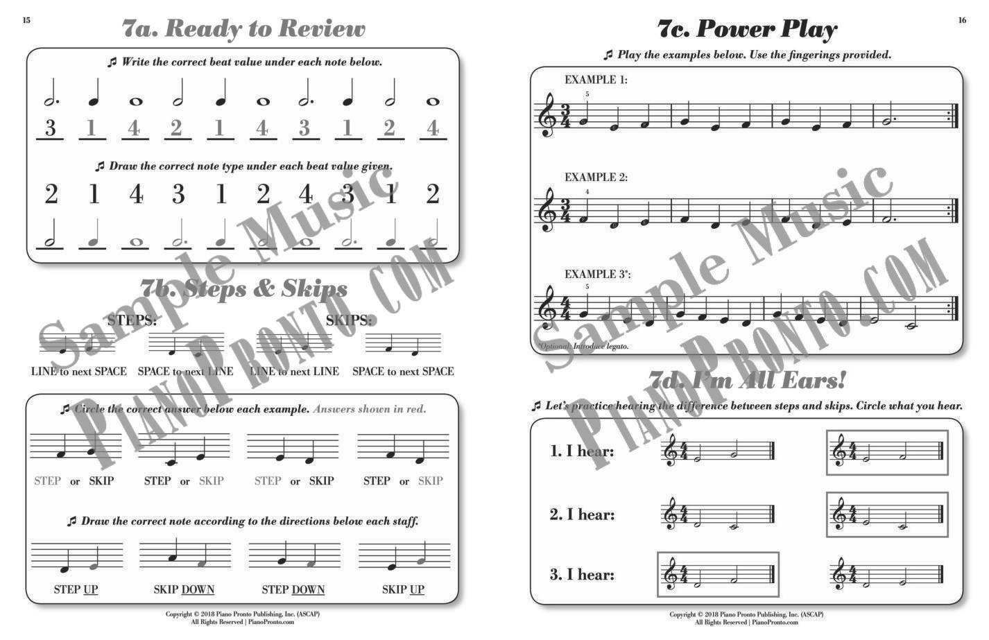Keyboard Kickoff: Power Pages™ Answer Guide | Workbook | Piano ...