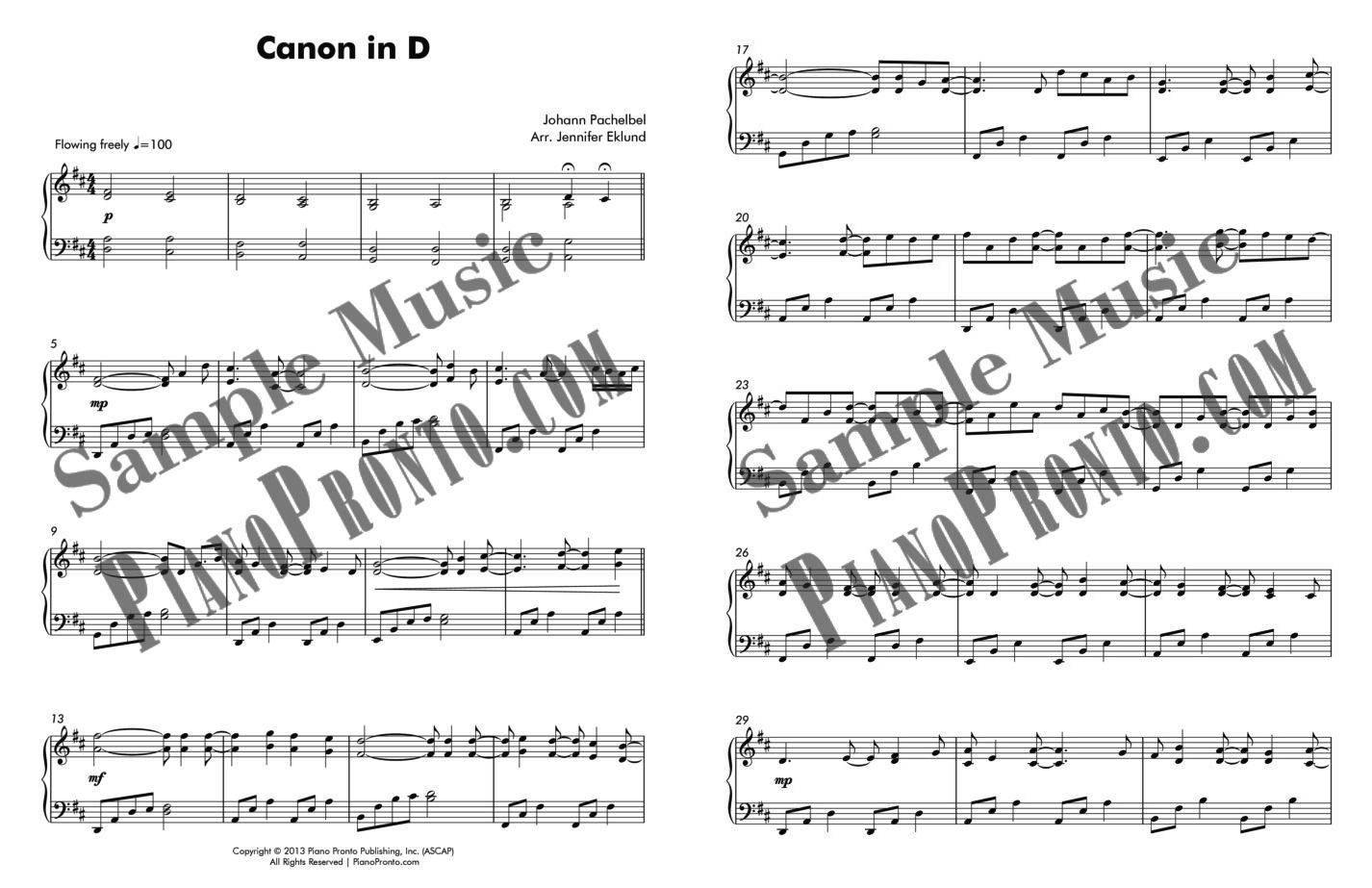 Canon in D: Contemporary Lyrical Version