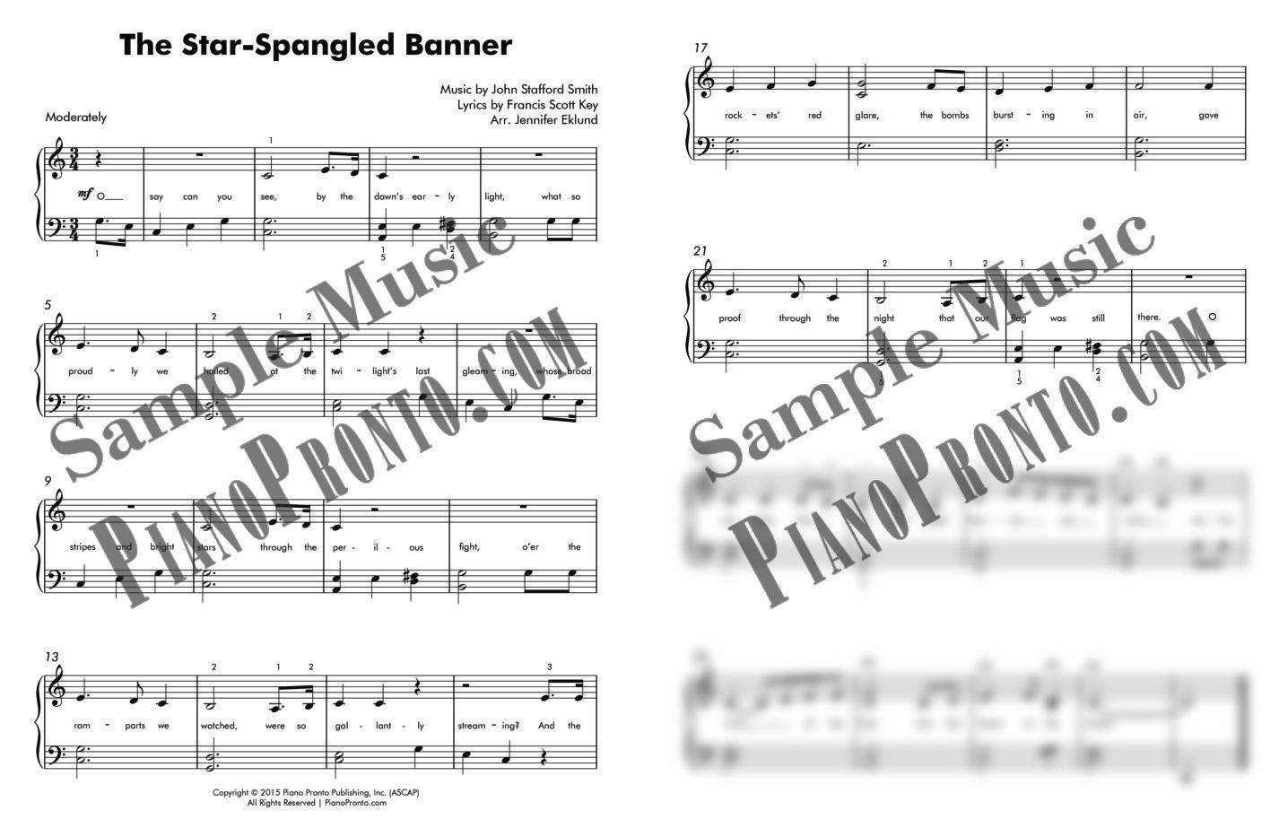 The Star Spangled Banner Super Pack Sheet Music Piano Pronto Publishing