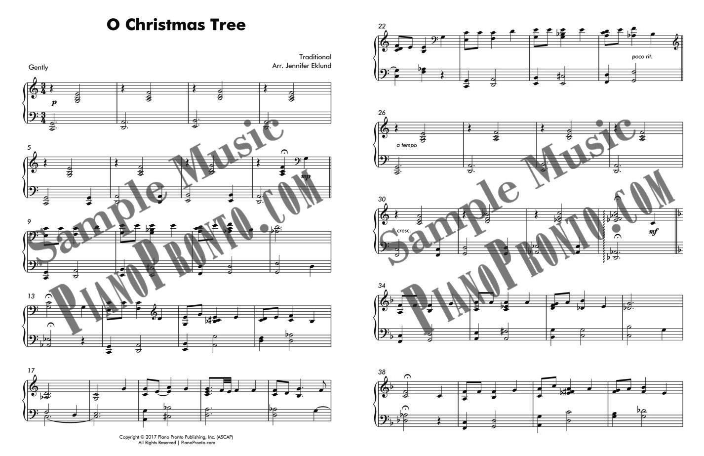 O Christmas Tree - Jazzy Holiday Solo | Sheet Music | Piano Pronto ...