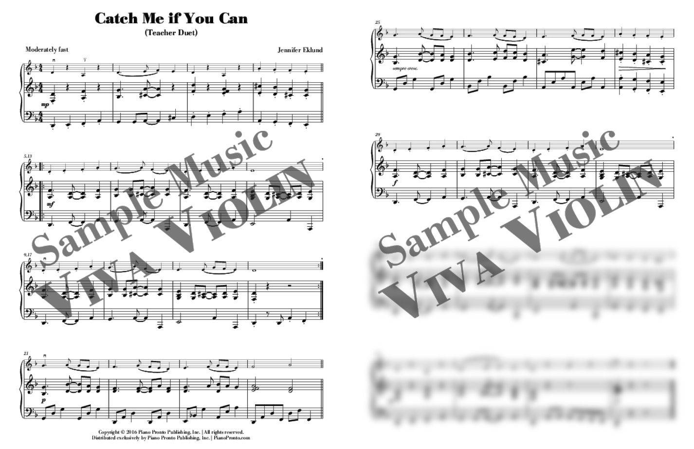 Catch Me if You Can - Easy Violin Solo