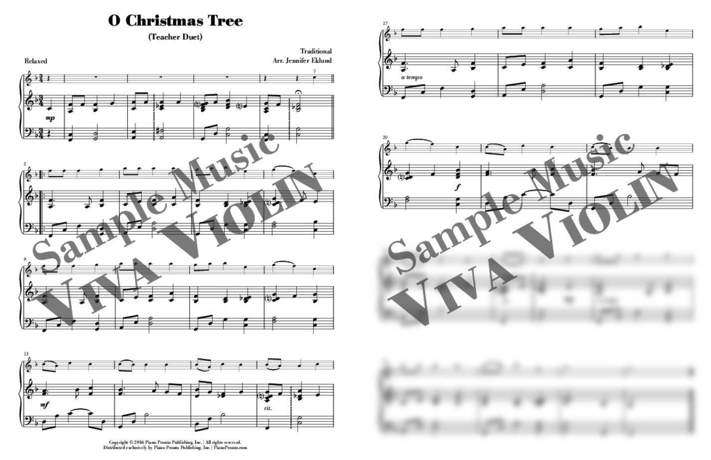 O Christmas Tree - Easy Violin Solo