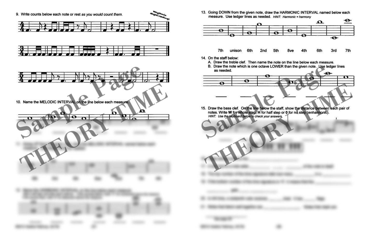 Theory Time® Medallion Series: Silver Workbook | Hardcopy ...