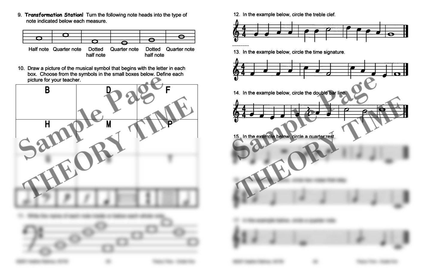 Theory time grade one workbook hardcopy workbook piano pronto take a look inside biocorpaavc Gallery