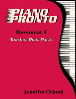 Piano Pronto® Teacher Duets: Movement 3