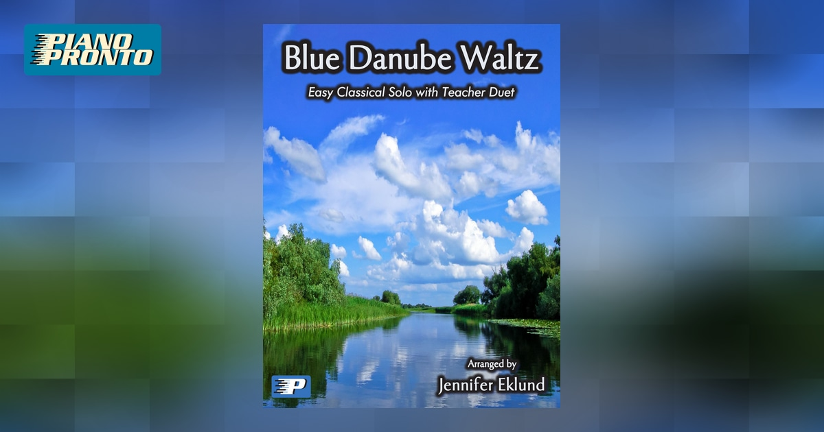 blue danube waltz piano sheet music pdf