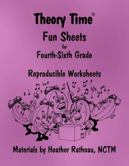 Theory Time® Reproducible Series: Fun Sheets for 4-6