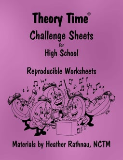 Theory Time® Reproducible Series: Challenge Sheets for High School