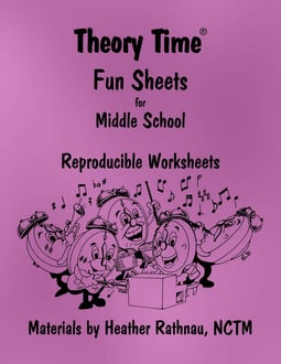 Theory Time® Reproducible Series: Fun Sheets for Middle School